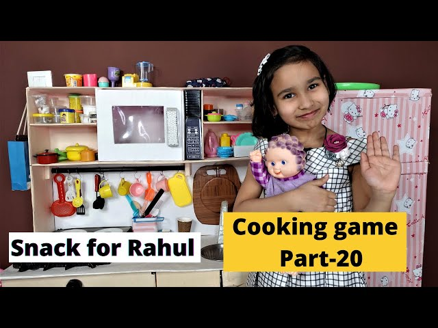 Cooking game in Hindi Part-21 / Snacks for Rahul /    #LearnWithPari