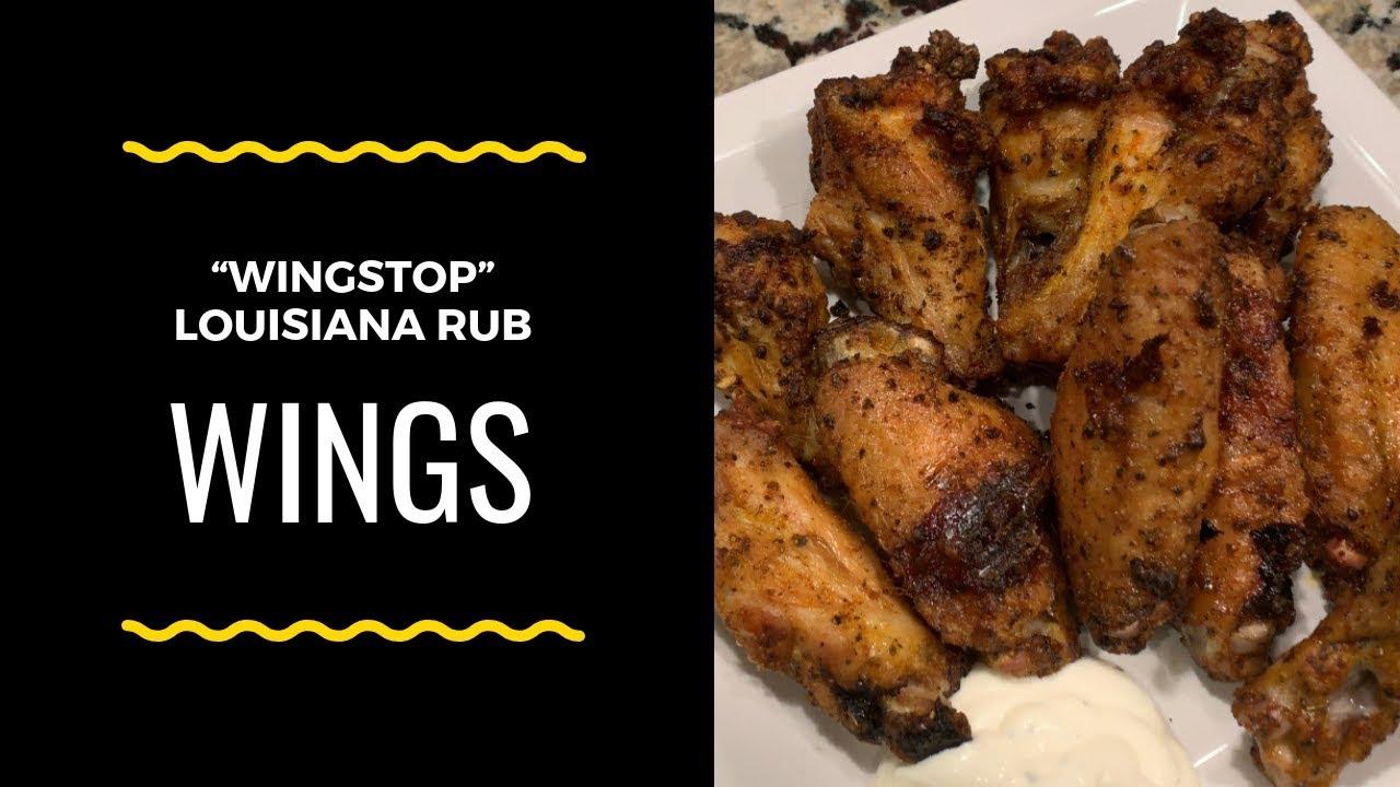 Wingstop Louisiana Rub Wings Youtube