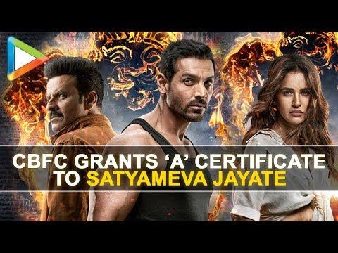 CBFC grants 'A' certificate to John Abraham starrer Satyameva Jayate