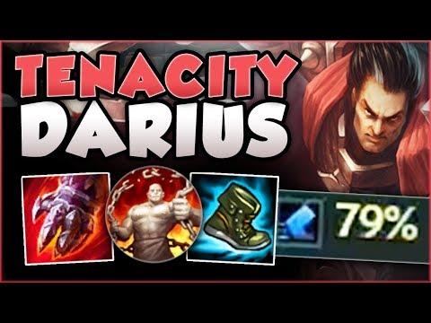 WTF... 79% TENACITY ON DARIUS? UNKITEABLE DARIUS TOO OP! DARIUS TOP GAMEPLAY! - League of Legends