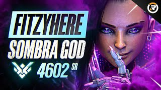 BEST OF FITZYHERE - SOṀBRA 900IQ GOD | Overwatch Fitzyhere Sombra God Montage & Facts