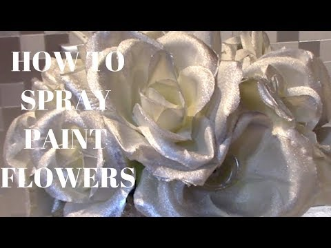 HOW TO PAINT FAKE FLOWERS // DOLLAR TREE DIY