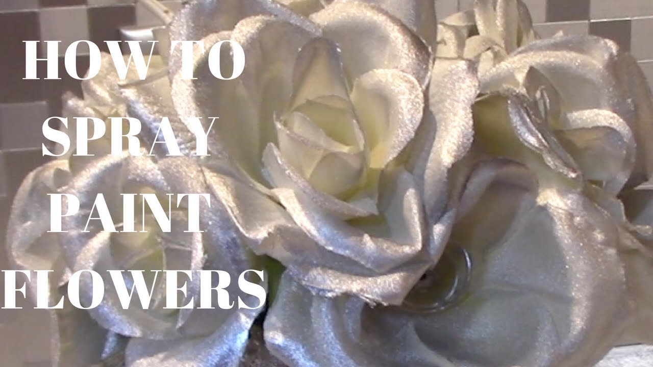 How To Paint Fake Flowers Dollar Tree Diy Youtube