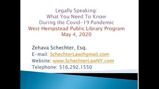 WHPL Legally Speaking 5-5-20