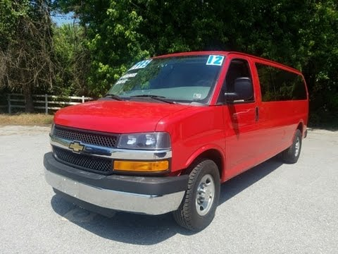 15 passenger van for sale used chevrolet express 3500 youtube. Black Bedroom Furniture Sets. Home Design Ideas