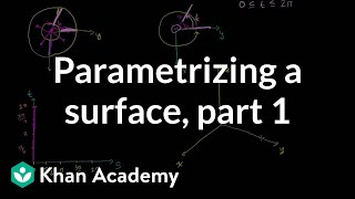 Introduction to parametrizing a surface with two parameters | Multivariable Calculus | Khan Academy