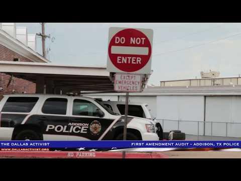 First Amendment Audit - Addison, TX Police Department