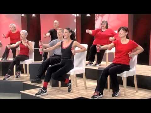 chair exercise justin timberlake mid century modern plastic chairs sit down tone core legs by jodi stolove s dancing fitness