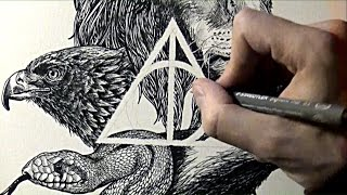 Speed Drawing - Hogwarts Houses (Harry Potter) | William ERHEL