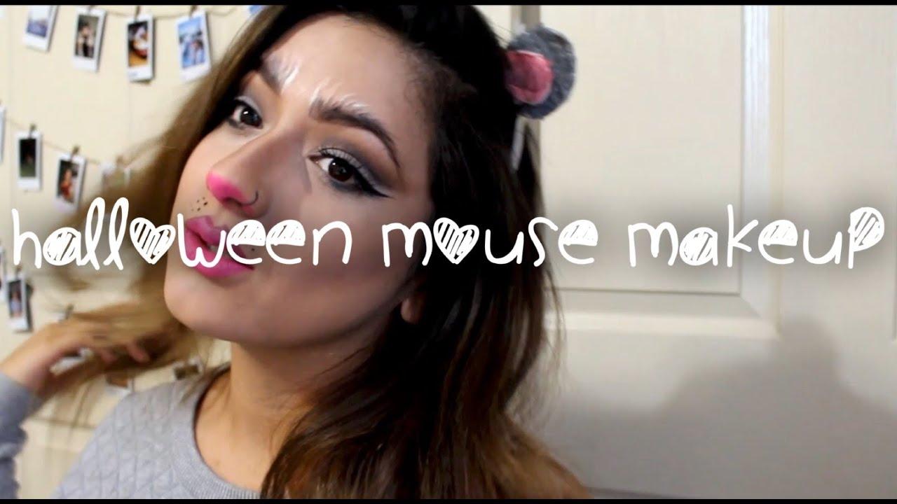 CUTE MOUSE MAKEUP / Halloween / Cut Crease