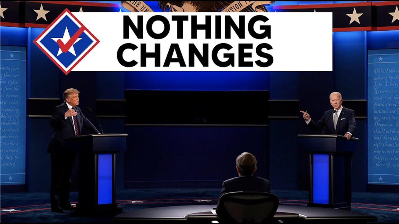 Following the Final Debate, Joe Biden Remains on Track to Win