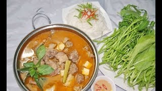 Làm món lẩu vịt nấu chao theo phong cách miền Nam