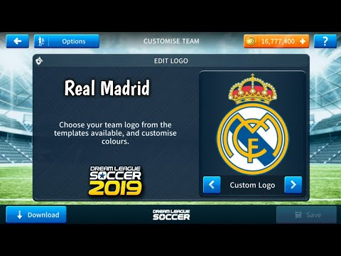 save off 91b48 fff22 How To Import Real Madrid Logo And Kits In Dream League ...