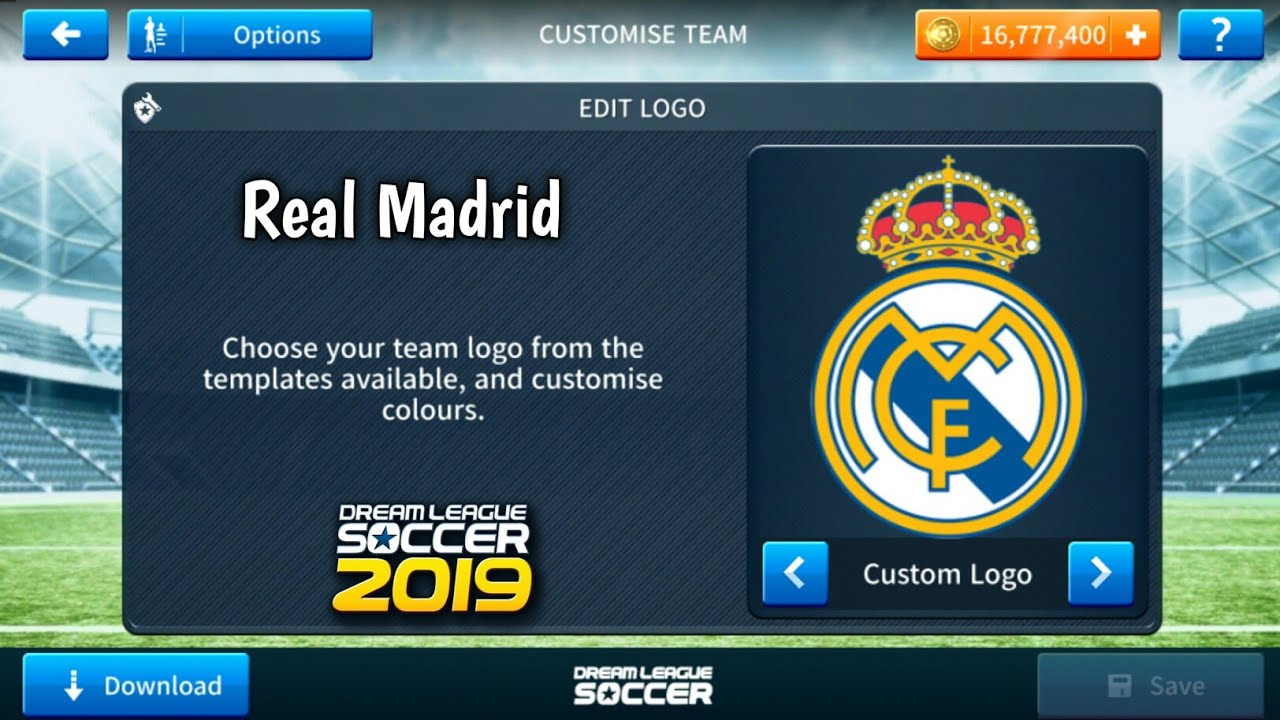 How To Import Real Madrid Logo And Kits In Dream League Soccer 2019