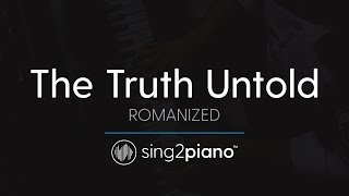 The Truth Untold (Piano Karaoke Instrumental) BTS & Steve Aoki - ROMANIZED