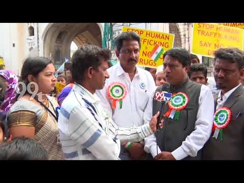 TELANGANA HUMAN RIGHTS PROTECTION & DEVELOPMENT FORUM , PEACE RALLY SAY NO TO DRUGS