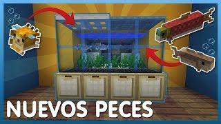 Como hacer una PECERA con los NUEVOS PECES! | Minecraft 1.13