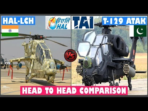 Indian Defence News:HAL LCH vs T 129 ATAK,Indian LCH vs T-129 Pakistan,Attack Helicopter comparison
