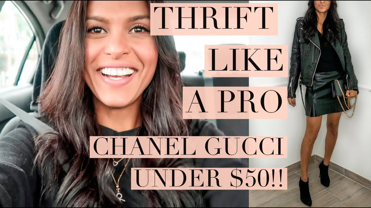b05171c048312f Thrift Haul ft. CHANEL, Gucci under $50 *HOW I FIND IT* // Maria Teresa  Lopez