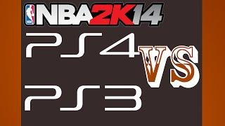 NBA 2K14 PS3 VS PS4 {1080p 60fps}