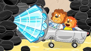 Lion Family Journey to the Center of the Earth 3 Cartoon for Kids
