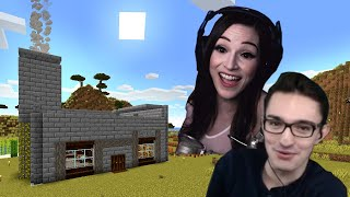 My Celebrity Crush and I start our Dream House in Minecraft