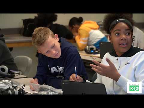Elevate K-12 Live Streaming Instructor Visits Yeager Middle School Students (Douglas County, GA)