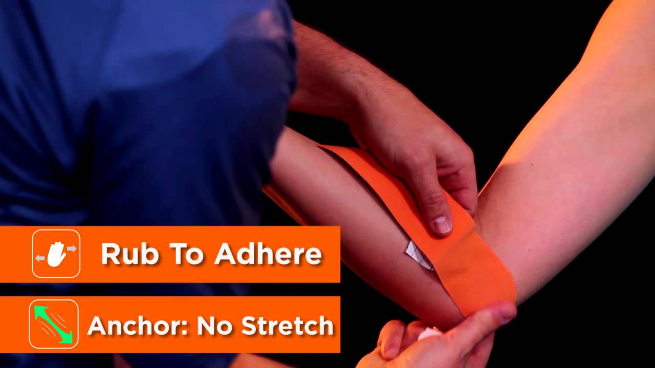 HOW TO APPLY KINESIOLOGY TAPE TO THE FOREARM - YouTube