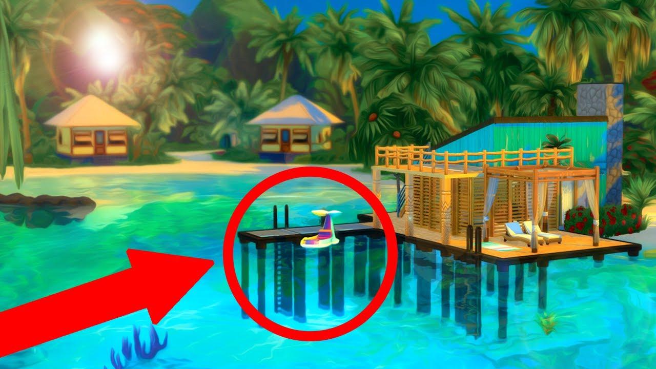 Sims 4 Island Living Beach Shack Build! - YouTube