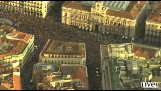 La manifestación del 12-M, vista desde un helicóptero