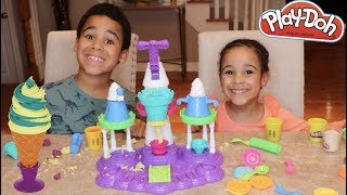 FamousTubeKIDS Make A Play Doh Ice Cream Castle!