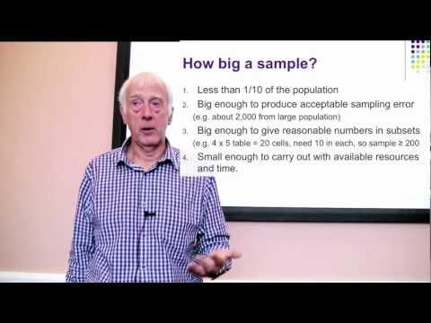 Sampling. Part 2 of 2 on Surveys and Sampling.