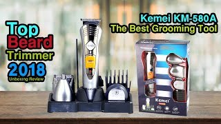 Kemei KM-580A | Beard Trimmer | Hair Clipper | Nose Trimmer| Baby Trimmer (Shaver Shop Bangladesh)