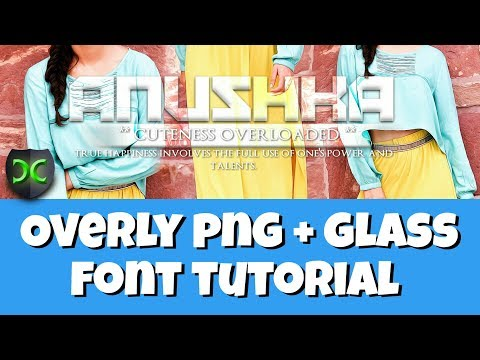 Make overly PNG And Glass Font In Android | Chandan Creation