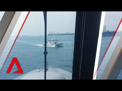 Republic of Singapore Navy warns Malaysian government vessels in Singapore waters