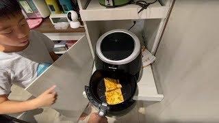 早餐日常 今天氣炸鍋吐司+起司好美|簡單又好吃! 日常 検索動画 20