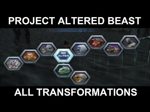 Project Altered Beast (PS2) - All Transformations CG Scenes