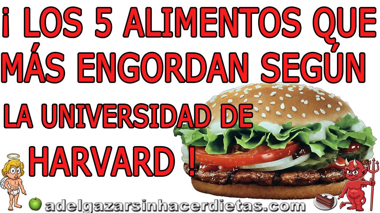 Los 5 alimentos que m s engordan top 5 adelgazar sin hacer dietas youtube - Alimentos que mas engordan ...