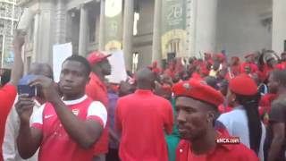 EFF protest at the Gauteng Legislature