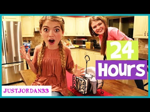 24 HOURS In KiTCHEN! Blanket Fort And Funny Truth Or Dare / JustJordan33