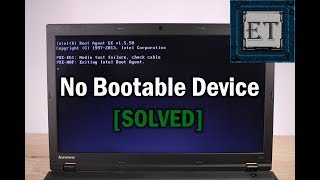 How to Fix Media Test Failure, Check cable, No Bootable Device, Boot Device Not Found