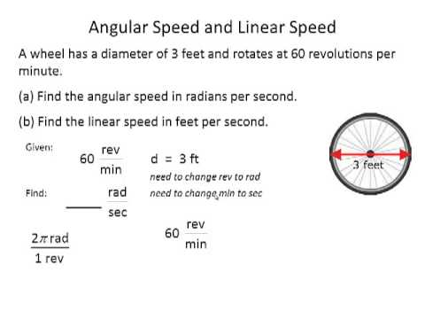 Trig 4.1b Angular and Linear Speed 1 of 3 - YouTube
