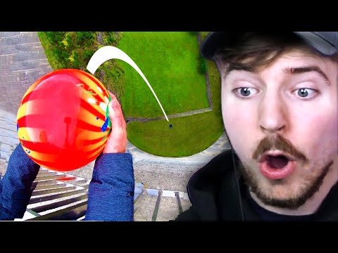 Bowling Ball vs 600 Feet Drop! - Beast Reacts