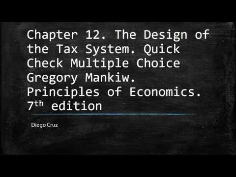 Chapter 12. The Design of the Tax System. Quick Check Multiple Choice Mp3