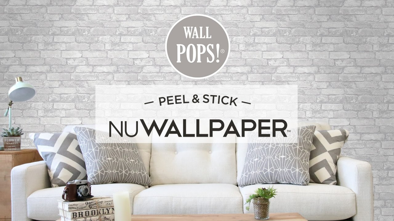 Apartment Makeover with Peel & Stick Wallpaper - YouTube