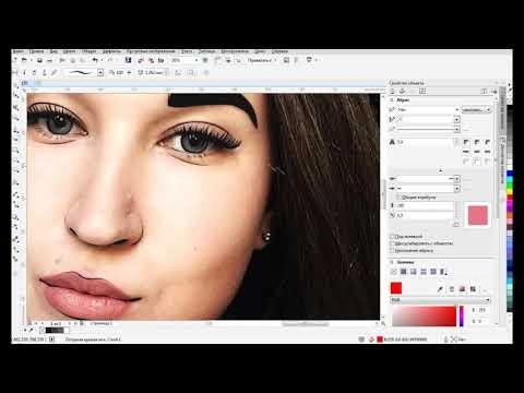 Speed Art / Как нарисовать Векторный портрет в CorelDraw