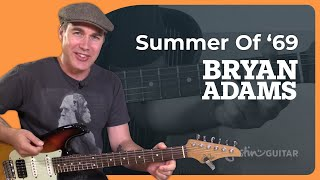 How to play the Summer of 69 by Bryan Adams - Guitar Lesson Tutorial