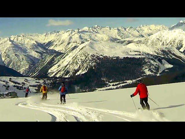 Heli-Skiing In the British Columbia Mountains