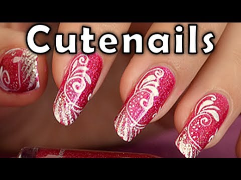 Louboutin Manicure On A Baroque Nail Art Youtube