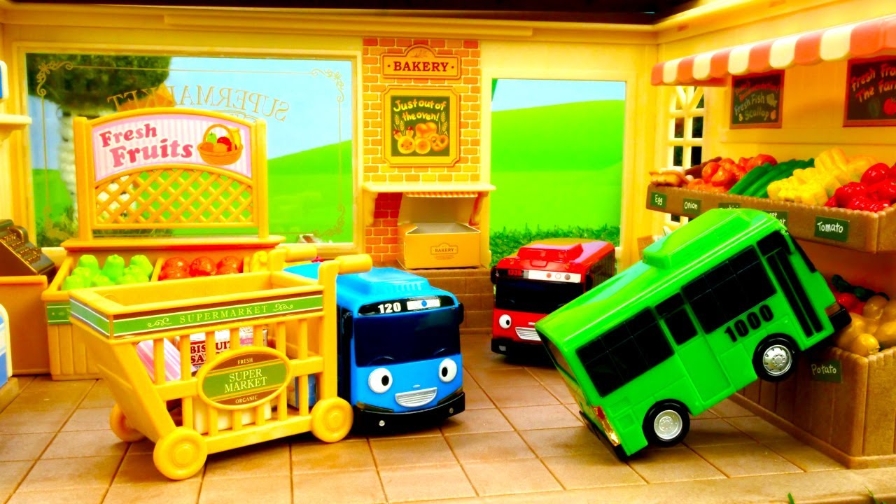 Машинки иигрушки для малышей— Роги, друг автобуса Тайо, заболел инехочет вмагазин— Машинки